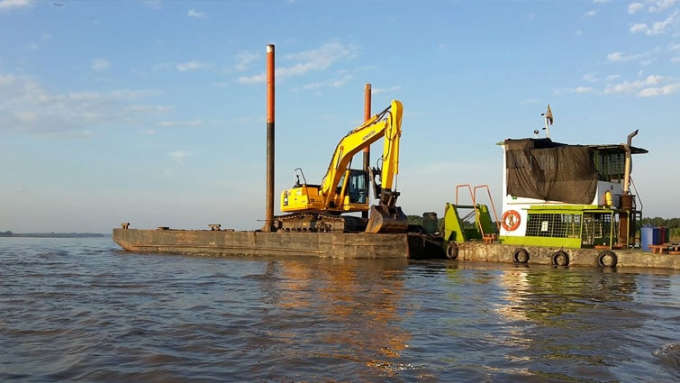 Control de Combustible Fluvial en Dragas – Panamerican
