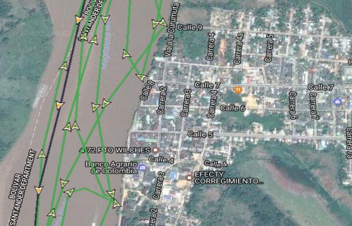 Rastreo Satelital GPS fluvial de Baja Precision