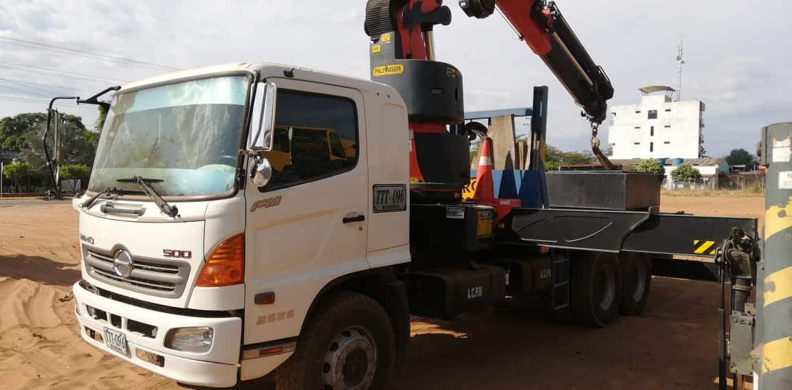 gps y control de combustible para grúa de carga