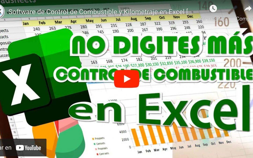 Software de Control de Combustible y Kilometraje en Excel