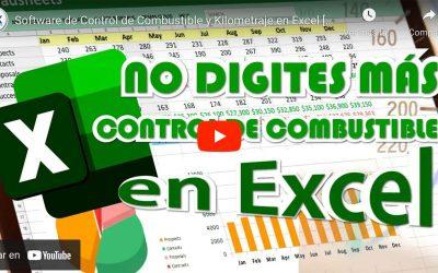 Control de Combustible y Kilometraje en Excel [SIN DIGITAR]